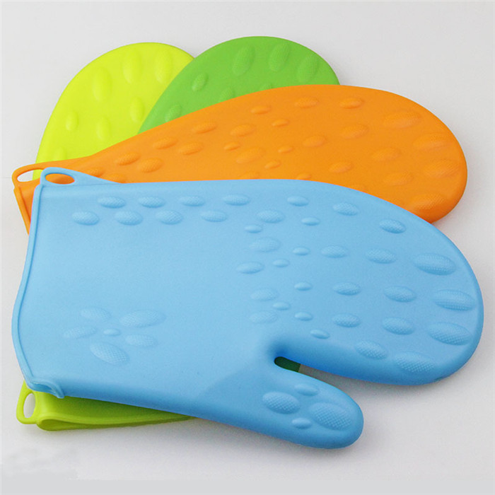 Silicone Pot Holder Oven Mini Mitt Cooking Pinch Grips Heat Resistant pattern silicone glove oven mitts