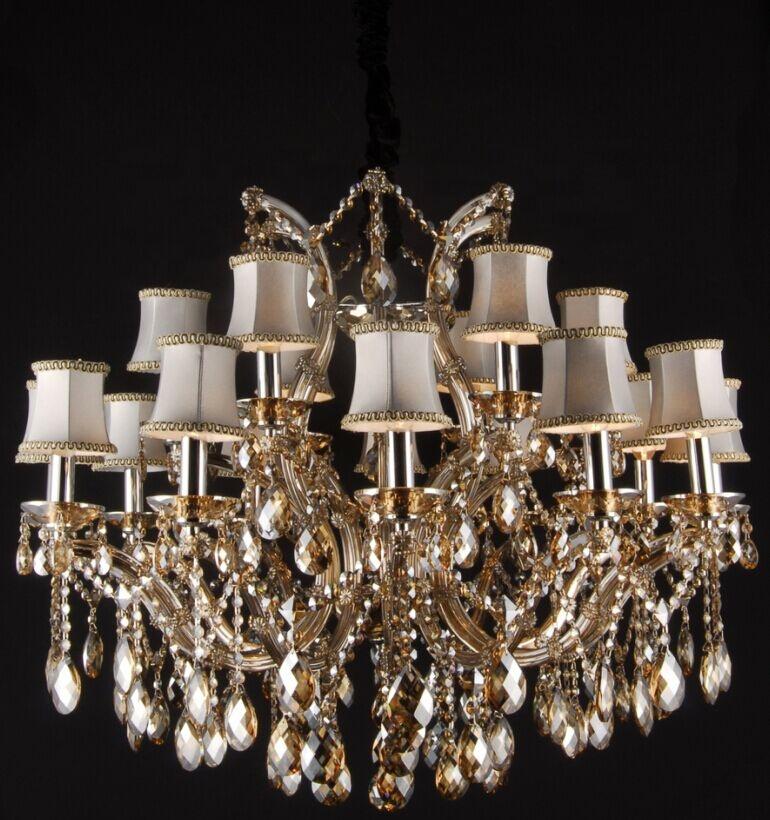 Baccarat Lustre De Cristal Chandelier Lighting Large Cognac Crystal