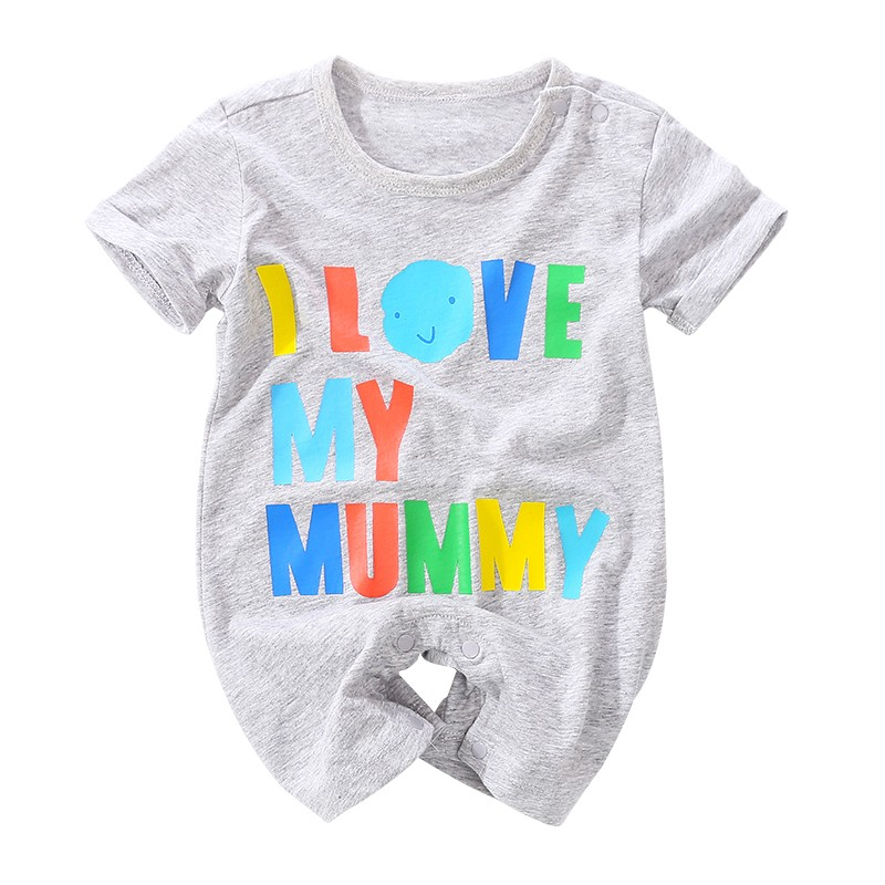 5310fc19d Yierying Baby Clothing 2018 New Summer Letter Printing Short Sleeve ...