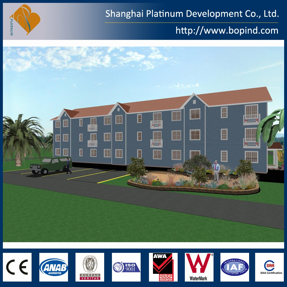 Residential Steel Apartment Building Light Steel Structure Up to 6-storey