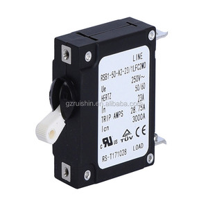 1P oil damping circuit breaker for generators with plug in circuit breaker