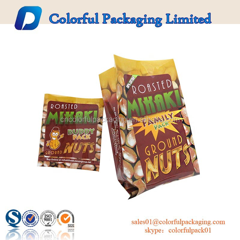 recycled snack roasted nuts aluminum foil side gussets plastic packaging
