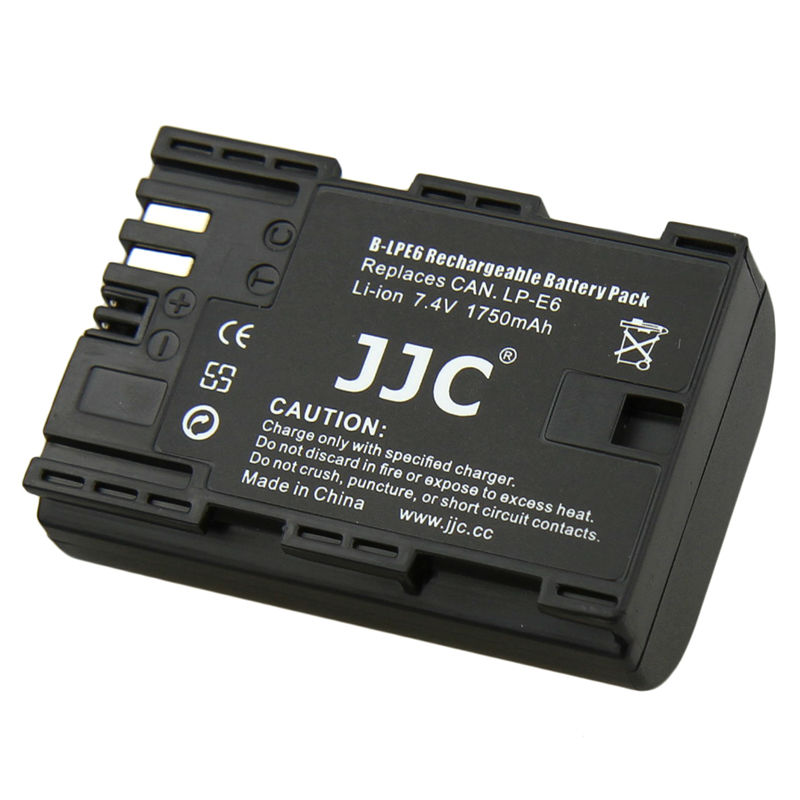 JJC Camera Li-ion Battery Pack replaces Canon LP-E6 for Canon EOS 5D Mark II