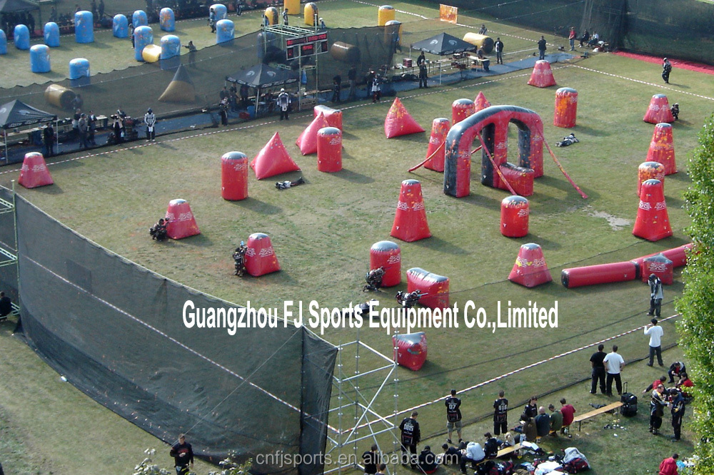 Inflatable paintball game