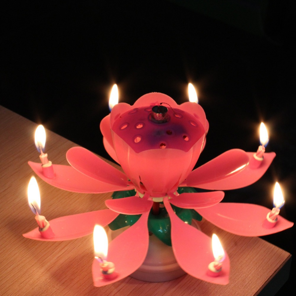 Lotus Candles For Birthday Cakes
