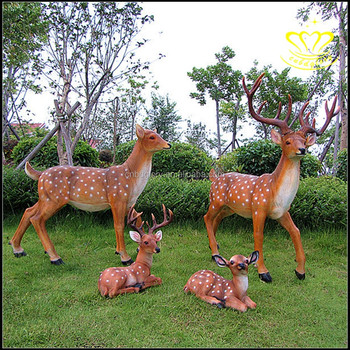 Exceptionnel Fawn Baby Deer Outdoor Garden Statue Resin Animal Lawn Decor