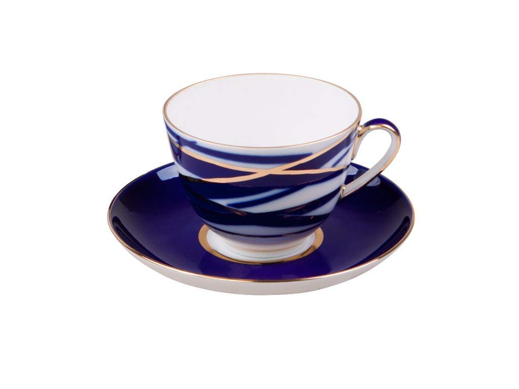 Get Quotations · Lomonosov Porcelain Tea Set Cup and Saucer Spring Cocon  7.8 ounces/230 milliliters