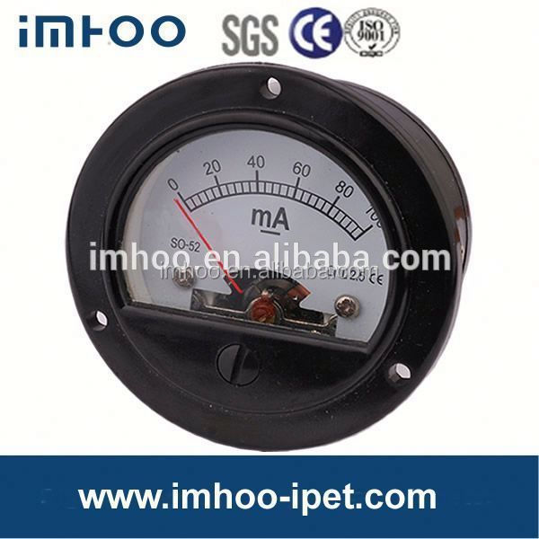 Round Moving Coil SO-52 panel analog ammeter