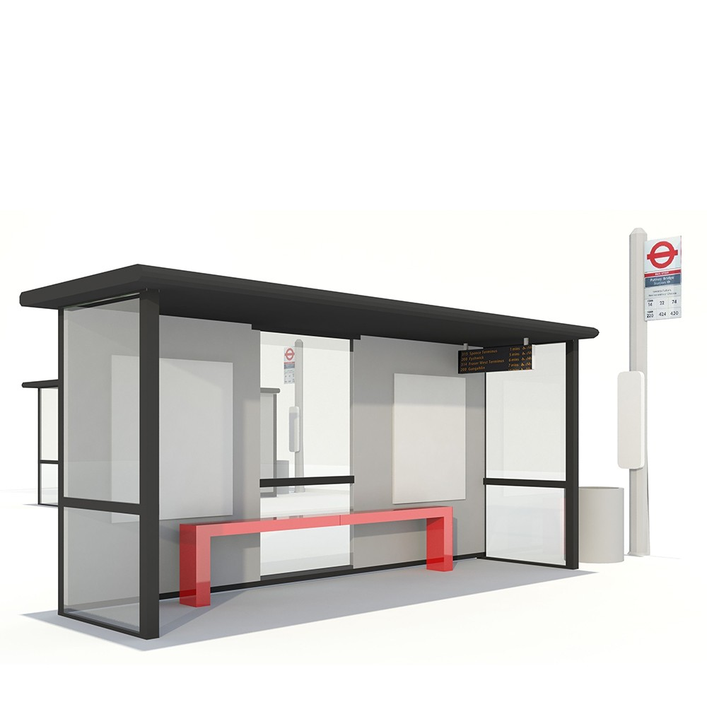 product-Customized Outdoor Stainless Steel Bus Stop Shelter-YEROO-img