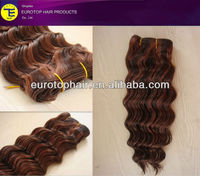 extension/hair weave wholesale factory price doule drawn deep wave indian human hair extension