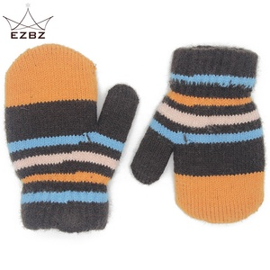 EZBZ Kids Knitted Full Finger Gloves Children Soft Warm Cute Winter Mittens