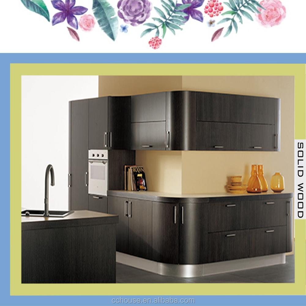Wood Veneer Curved Kitchen Cabinet, Wood Veneer Curved Kitchen Cabinet  Suppliers And Manufacturers At Alibaba.com