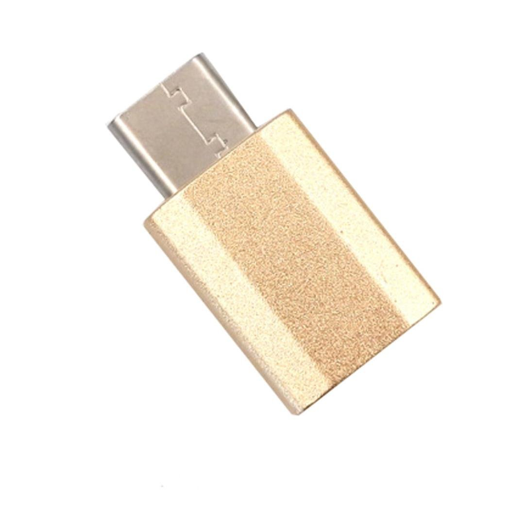 ONEMORES(TM) Micro USB to USB 3.1 Type-C USB Data Adapter for Oneplus 3 (Gold)
