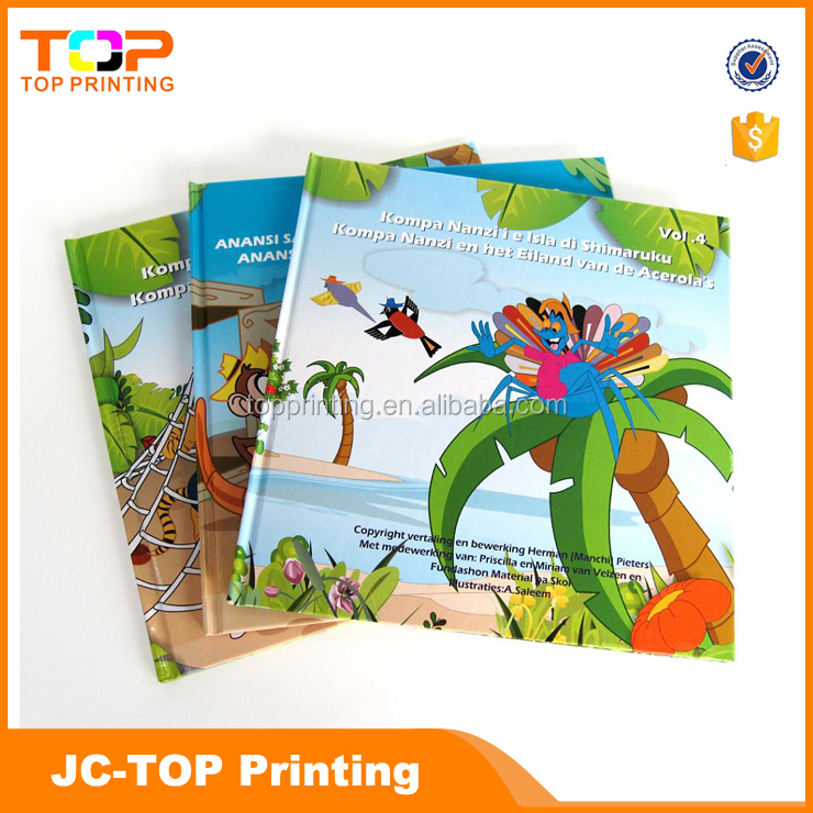 Colorfull children book / hard cover book printing