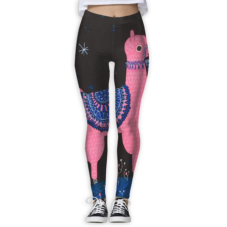 905914297f271 Get Quotations · Virgo Llama Alpaca Stretchy Compression Pants/Yoga Pants  Panel Leggings Women Female Drawstring