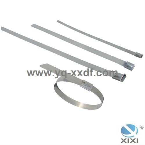 300x8mm Ball Lock Stainless Steel Cable Tie