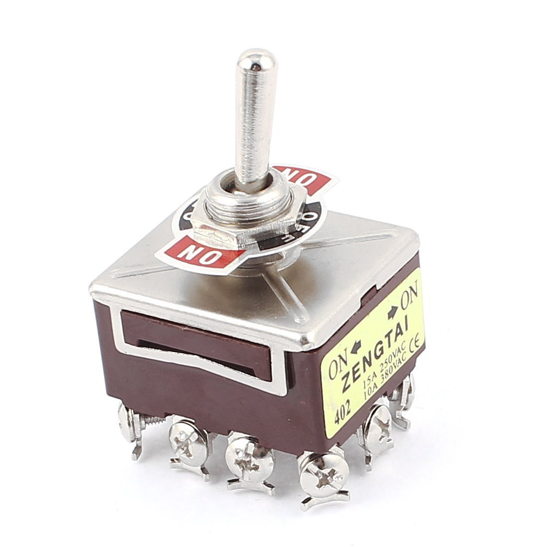 uxcell AC 380V/10A 250V/15A 12 Terminals 4PDT 2 Positions ON-ON Toggle Switch