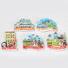 Roogo wholesale Original handicraft 3D fridge paste creative Austria attractions resin magnetic wall sticker