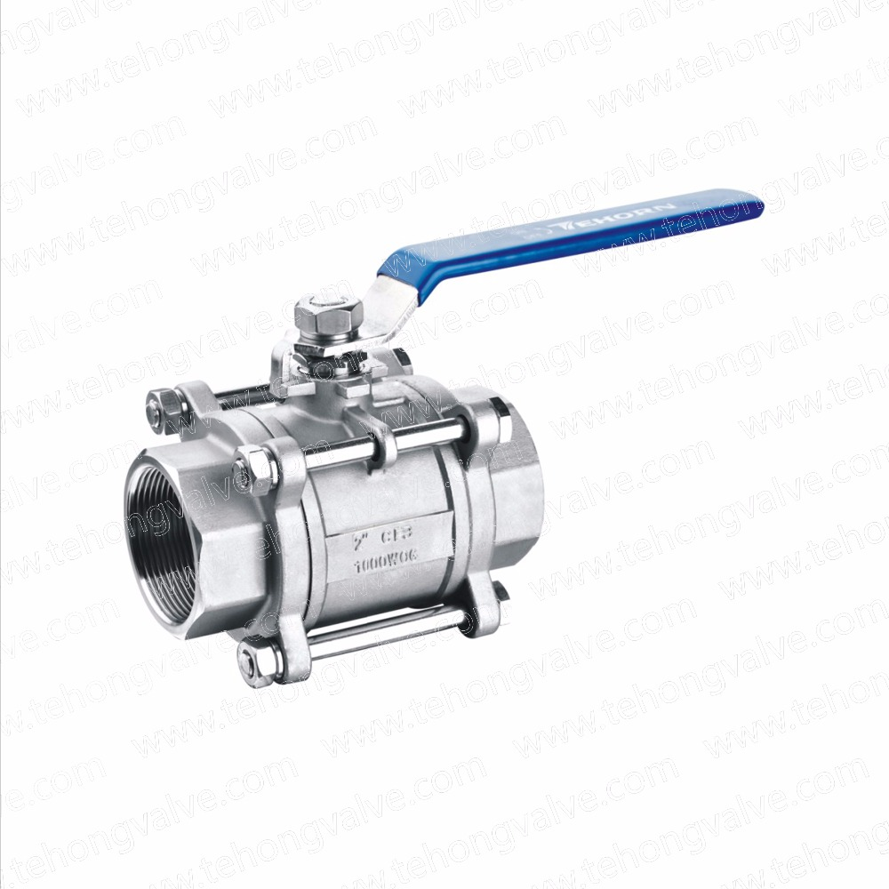 3PC Floating Type Ball Valve Thread End & Socket Weld End of Stainless Steel & Carbon Steel Material Economic Type