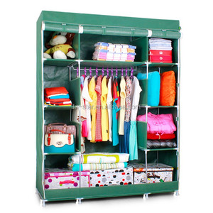 FS high-quality & cheap portable bedroom closet cabinets storage closet organizers folding wardrobe steel almirah