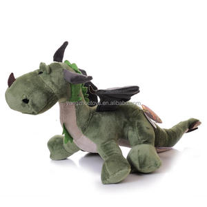 wholesale new design green color plush toys dragon city