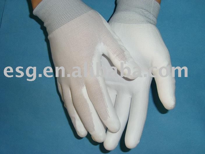ESD PU Palm Coated Nylon Mixed Copper Glove