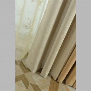 Hot selling 100% polyester hospital embroidery organza curtain fabric blackout for window fabric curtain made in China
