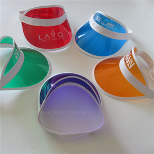 5dd8aaa2df4 Custom cheap plain cap printing multicolor plastic sun visor PVC  transparent visor cap wholesale