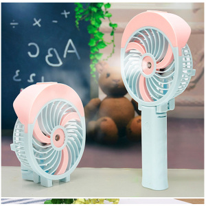 water mist mini usb outdoor indoor fan with 4000 mAh power bank and mist for travel