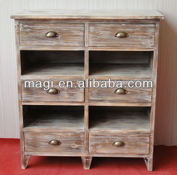 Distressed Old Wooden Cabinet With Six Drawers   Buy Cabinet,Wooden  Cabinet,Old Wooden Cabinet Product On Alibaba.com
