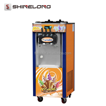 Floor Standing Mcdonald's Rainbow Ice Cream Machine In UAE/China Factory