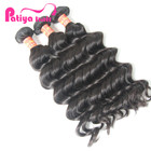 Machine made double drawn weft georgia real mink brazilian hair wavy