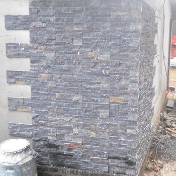 Exterior Wall Slate Tile White Natural Quartz Stack Stone Veneer