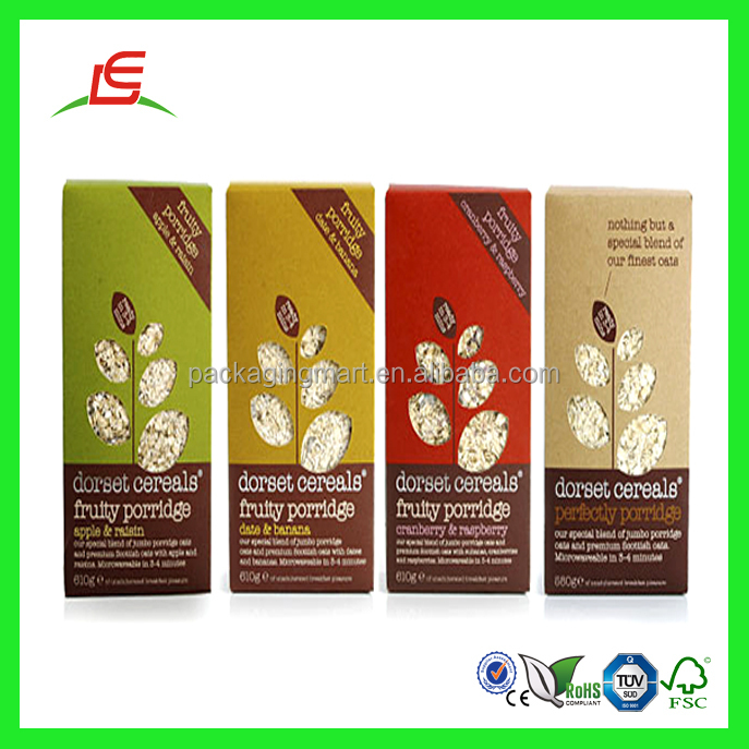 Q860 Cmyk China Supplier Cardboard Custom Cereal Bar Packaging ...