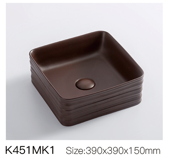 Indian square deep sink new ceramic art matte basin