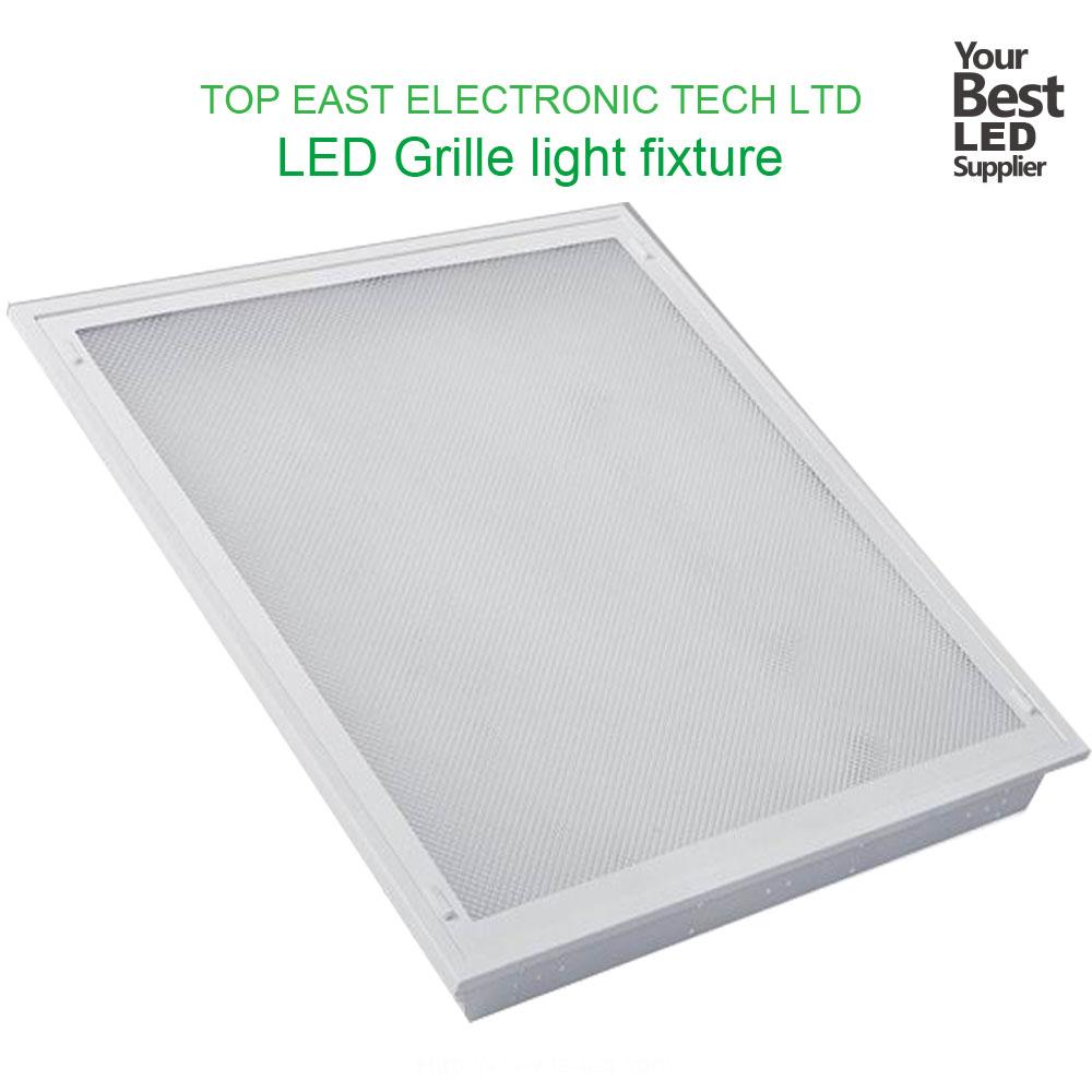 Led t5 t8 grille lamp fixtures600600mm reflector louver light fixture