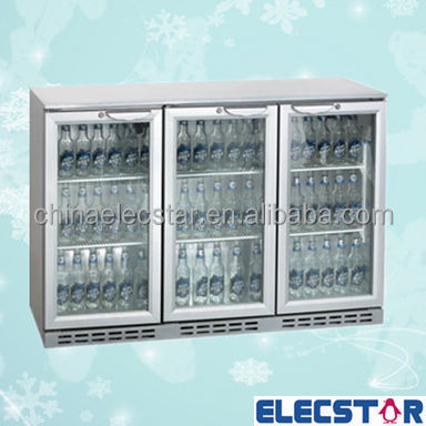 Stainless steel 3 door back bar cooler with Hinged or Sliding Door /beer fridge/bar equipment,with CE/CB/RoHS/MEPS/ETL