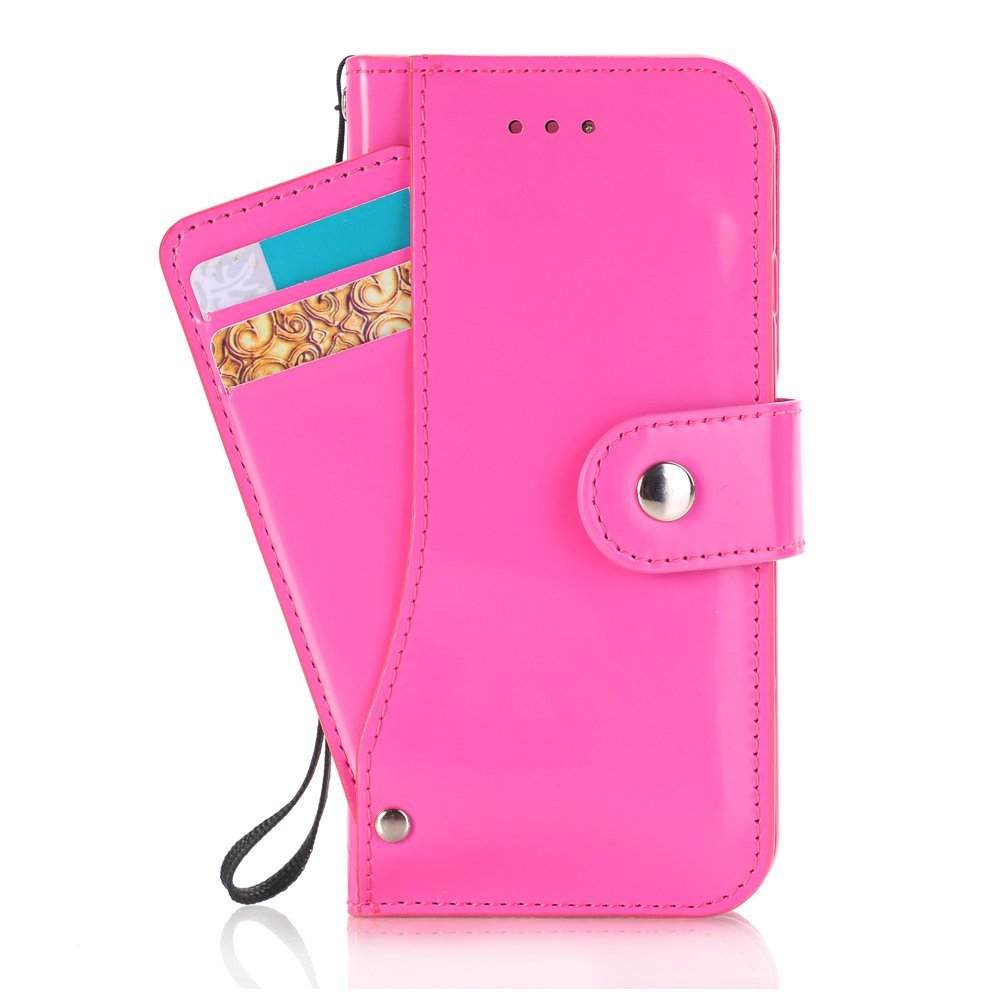iPhone 7 Wallet Case,SAVYOU iPhone 7 Wallet Card Slot Holder Series Slim Premium Flip PU Leather Wallet Folio Stand Protective Case Cover for iPhone 7 4.7inch(Hot Pink)