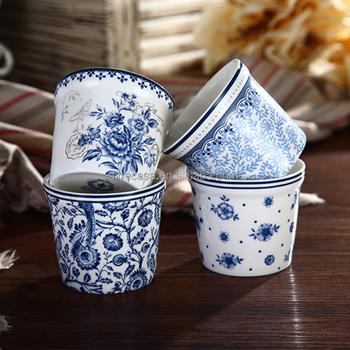 Blue and white porcelain flower pots credainatcon new products 2017 porcelain flower pot mightylinksfo
