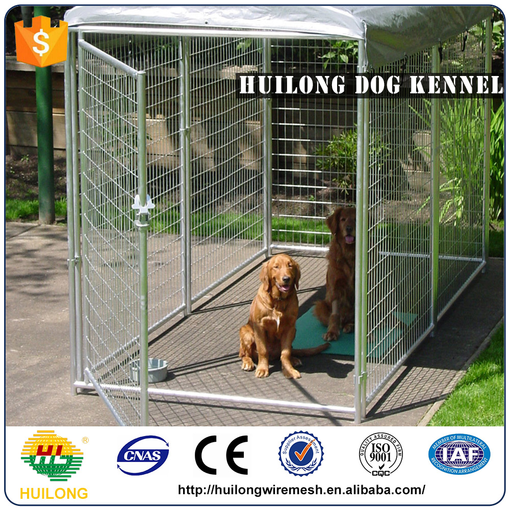 Iron chain link wire mesh fencing double dog kennel panels factory direct