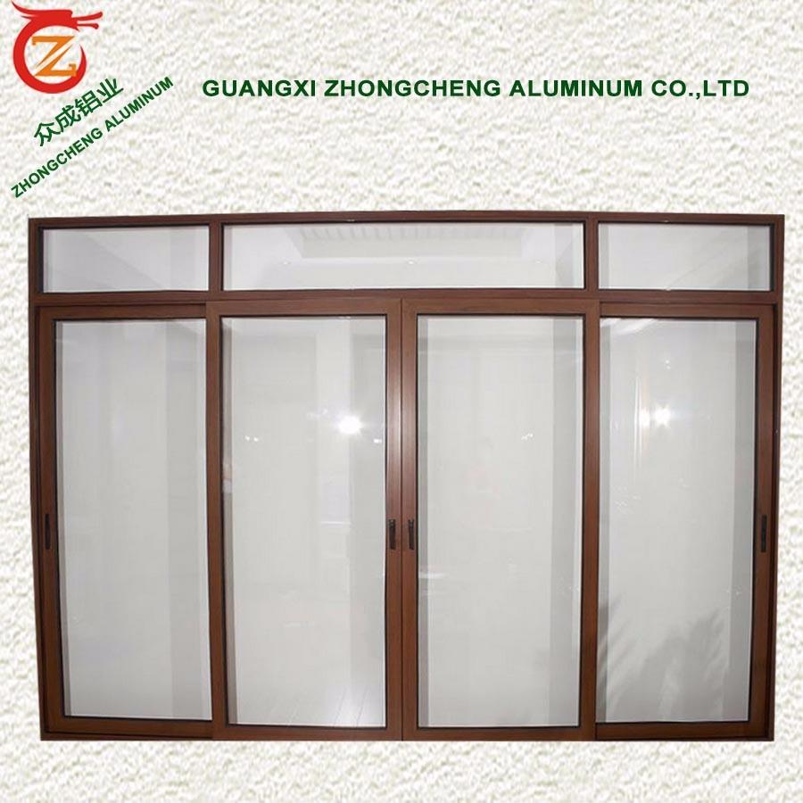 diseo moderno windtight impermeable de aluminio puerta corredera de cristal opaco