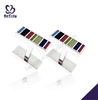 Shiny rectangle colorful painting make custom cufflinks