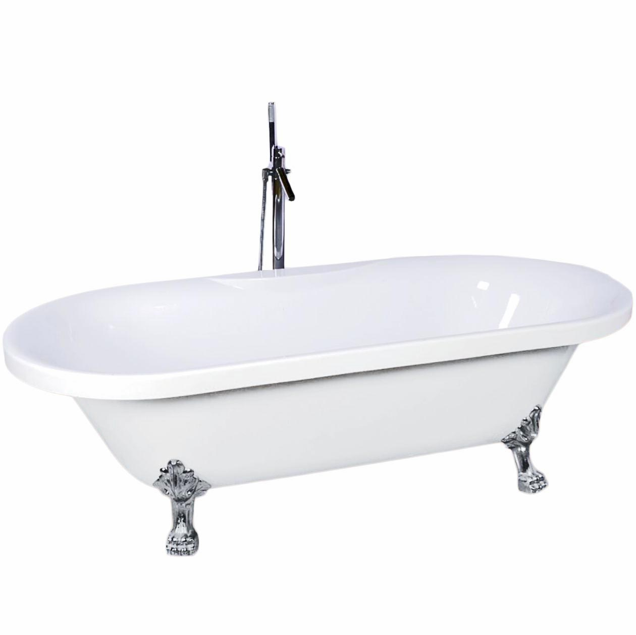 Acrylic Freestanding Bathtub With Four Legs Buy Freestanding Bathtub Retro Bathtub Bathtubs With Jets Product On Alibaba Com