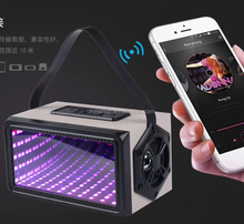 2018 New Design MP3 USB FM Radio 1500mAh Rechargeable Portable Wireless LED Speaker With Mirror