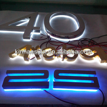 outdoor backlit led house number sign