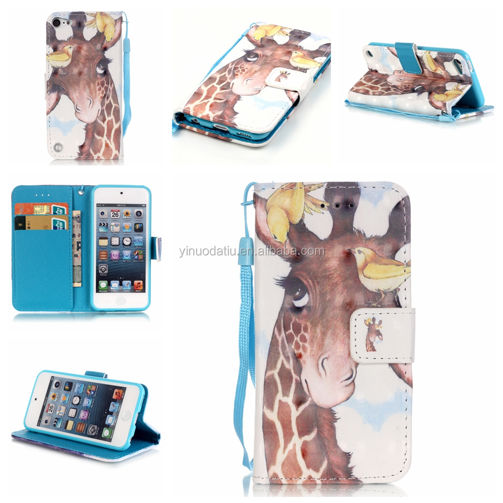 Mixed Colors Leather Flip Case for iPod Touch 6, For Apple iPod Touch 6 Case