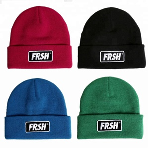 SXZZM-017 Blank Plain Branded Beanie Woman Custom Embroidery Logo Merino Winter Hat Wholesale