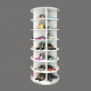 Factory price modern wooden shoe rack rotate for shoe store furniture