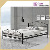 Vintage luxury unique metal bed design for famous designer furniture