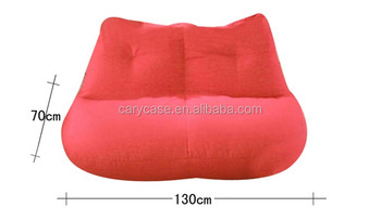130cm X 80cm Extra Wide Red Lip Shape Couple Bean Bag Lounger, Double  People Beanbag